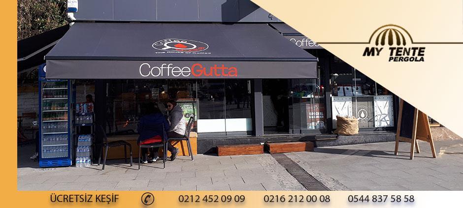 Mafsallı Tente Cafe Antrasit Gri Akrilik Kumaş
