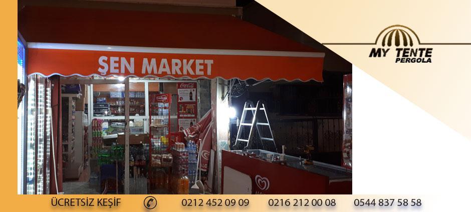 Mafsallı Tente Turuncu Market Örneği